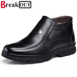 shoe broken toe Promo Codes - Break Out New Men Boots Winter Boots Snow Warm Plush Fashion Men Shoes Size 38-44