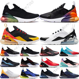 gold zukunft Rabatt Nike Air Max 270 Floral Schwarz Crimson Gold Für Männer Frauen CNY Schwarz Gradient Haben Sie einen Tag Throwback Future Red Orbit Sport Herren TrainerDesigner Sneakers 36-45