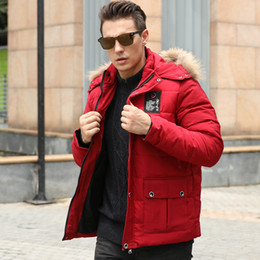 03f77f89af253 big size hats Australia - Big size youth Hooded down jacket male student  plus size loose