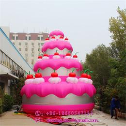 Canada Peut Personnalisé 2018 Inflatables Gonflable Géant Gâteau De Publicité De Gâteau Pour La Fête D'anniversaire Fournitures Et La Décoration De Concert Offre
