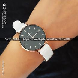 dw relógio pulseira de nylon Desconto Melhor Versão de 32mm de Luxo Mulheres Relógios Branco Nato Nylon Strap Senhora Relógios DW Relógios Branco Preto Face Rose Gold Silver Drop Shipping