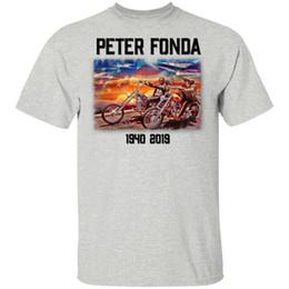 Reiterhemden online-Easy Rider T-Shirt Peter Fonda Der Memory 1940-2019 Black Navy Männer Frauen Harajuku lustige T-Shirt