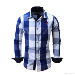 Chemise à carreaux rouge en Ligne-Rouge Et Bleu Chemise À Carreaux Hommes Chemises 2018 Nouvel Été De Mode Chemise Homme Hommes Chemises À Carreaux À Manches Courtes Chemise Hommes Blouse