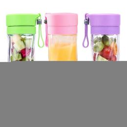Spremitore di bottiglia online-380ml USB elettrico Blender Juicer bottiglia portatile ricaricabile spremiagrumi Viaggi Coppa di frutta Succo di verdura caffè Cucina strumento LJJA3442-2