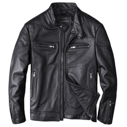 Erkek Gerçek Deri Ceketler Beckham Motorycycle Deri Ceket İnek Hakiki Slim fit Ceket Erkek için nereden