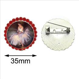 Ballerina di cristallo di brooch online-New Ballerina Portrait Crystal Spilla Balletto Breastpin Round Fashion Pin Gioielli Regali per gli amanti della danza Una donna spilla