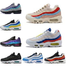 plantas fúcsia Desconto Nike Air Max 95 airmax cor da planta mulheres homens tênis de corrida se tt aqua neon neon uva fúcsia teal nebulosa mens formadores athletic sports sneakers 36-45