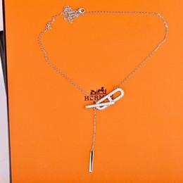 Collar de plata de ley swarovski online-Lo mejor El nuevo glamour de la joyería diosa salvaje para las mujeres swarovski esterlina collar de plata muñeca de la mujer