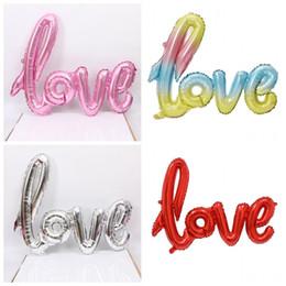 Balões decorativos de casamento on-line-Conjoined Balões Amor Carta Airballoons Wedding Room Decorar Dia dos Namorados Arranjo Propor Multi Color 3 1hya F1