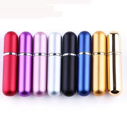 Bottiglia spray atomizzatore di viaggio online-5ml mini riutilizzabile bottiglia di profumo con spray Profumo Pompa vuoto contenitori cosmetici Spray bottiglia atomizzatore per la corsa