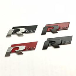 2019 logotipos para pára-brisa do carro Novo 10 pçs / lote Vermelho Preto de Metal Etiqueta Do Carro R linha Rline Emblema Emblema adesivo para VW MK6 MK7 Passat B5 Tiguan Polo B6 B6 B6 Golf 5 6 7