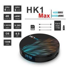 android media player Promo Codes - HK1 MAX Android 9.0 TV BOX 4GB 64GB 32GB RK3328 Quad core 2.4G 5G Dual Wifi IPTV Media Player