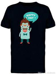 Camicia personalizzata online-T-shirt da uomo Happy Day T-shirt da uomo da uomo T-shirt manica corta personalizzata per il giorno del ringraziamento T-shirt da donna personalizzata 3XL