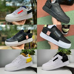 tipi di scarpe sportive Sconti Nike Air Force 1 Just Do It AF1 donne N354 Nero Utility Bianco Air 1s formatori Dunk One Cut Skateboard Shoes