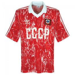 tailandia jersey de futebol ao atacado Desconto Retro União Soviética 1989/91 Futebol CCCP URSS Futbol Vintage Football Camisetas Classic Camisas Tops Kit Maillots Maglia