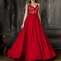 ee83e86fbd49 vestiti chiffoni rossi sexy dalla damigella d onore Sconti Abiti da sera  rosso abiti da