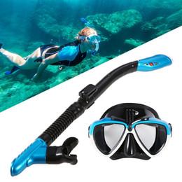 2019 snorkeling set asciutto Maschera per immersione a secco completa Immersioni Snorkel Occhialini da nuoto Set Maschile per uomini e donne Attrezzatura per lo snorkeling Occhiali snorkeling set asciutto economici
