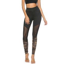 Чёрные леггинсы онлайн-Sexy Mesh Leggings Женщины Черные Эластичные Леггинсы Готический Дизайн Тонкие Брюки Брюки Черные Леггинсы Фитнес Femme