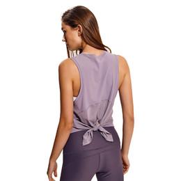 2019 pantaloni poplini NWT Activewear Esecuzione di allenamenti Vestiti Open Back Yoga Canotte Stretch Camicetta sexy Canotta da palestra Camicie senza maniche Sport Crop Top