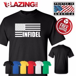 c82ba839f INFIDEL Flag T-shirt Black 2nd Amendment Rifle Freedom Flag USA Gun Sm -  3Xlg Funny free shipping Unisex Casual Tshirt top