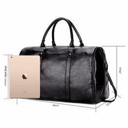 men bags VICUNA POLO Casual Business Men Bags Large Capacity Rolling Travel  Handbag Black Leather Mens duffel bag For Short Trip 36156549a15f9
