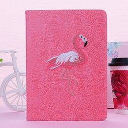 mini ipad voller abdeckungsfall Rabatt 3D Stickerei Design Flamingo Dormancy Tablet TPU Ledertasche für iPad mini 1/2/3 IPDA2 / 3/4 Pro9.7 10.5 ipda air1 / 2 Full Package Edg