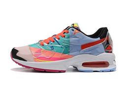 sapatas da tendência dos homens Desconto Nova Luz x Atmos Neon Colorido Retro Homens Mulheres Costura Tênis de Corrida de Alta Qualidade Designer de Calçados Esportivos Tendência Selvagem Sapatos Ao Ar Livre