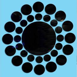 2019 adesivos adesivos espelho Adesivos de parede Papel De Parede Acrílico Contemporâneo 33 Pcs / Set 3D Espelho Decalque De Vinil Autoadesivo Home Decor adesivos adesivos espelho barato