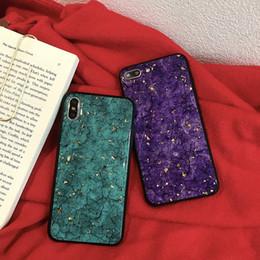 Argentina Cajas del teléfono de lámina de oro agrietado TPU Borde suave para Iphone Xs Max Epoxy Proceso Caja del teléfono celular para Iphone 6 7 8 Plus cheap process gold Suministro