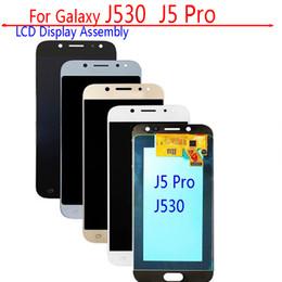 2019 мобильный телефон lcd оптом Оптовая сотовый телефон OLED LCD сенсорный экран для Samsung J5 2017 для Samsung J530 J530F ЖК-дисплей без рамки, J530 ЖК-дисплей Ypf27-03 дешево мобильный телефон lcd оптом
