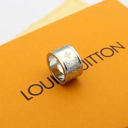 Новые дизайнеры обручальные кольца для любителей моды 2020 3 цвета кольцо старый цветок письмо стиль обручальное кольцо для женщин мужчин с сумкой от