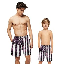 Microfiber 4th of July USA Flag Stars Patriotic Solid Board Swim Mens Shorts Adjustable