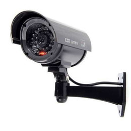 Vigilância à prova de intempéries on-line-Câmeras de vigilância IG-simuladas - segurança IP sem fio falso manequim IR câmeras LED - visão noturna / dia olhar, à prova de intempéries bulle