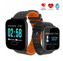 2019 función de reloj inteligente Nuevo A6 Reloj Bluetooth Pasómetro Fitness Tracker Multifunción Pulsera Inteligente Hombre Hombre Wowen Reloj Inteligente Reloj Deportivo función de reloj inteligente baratos
