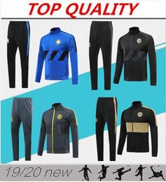 camisetas de lyon Rebajas 2019 2020 chándal de fútbol Inter chaquetas kits 19/20 Survetement ALEXIS Lukaku LAUTARO chándal traje de entrenamiento del fútbol fijado chaqueta veste