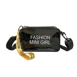 Модные прозрачные сумки для пляжа онлайн-Fashion Ccrossbody Bags for Women 2019 Cute Mini Shoulder Bag Clear Transparent Purses and Handbags Clutch Summer Beach Tote Bag