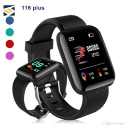 iphone bands Promo Codes - 116 Plus Watch Bracelets Fitness Smartwatch Tracker Heart Rate Step Counter Activity Monitor Band Wristband PK 115 PLUS for iphone Android