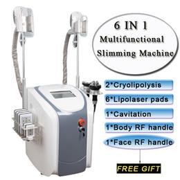 лазерная липокавитационная машина Скидка жира замораживания машин талии похудение кавитация ВЧ лье уменьшение жира машины лазер 2 морозильных головки могут работать одновременно