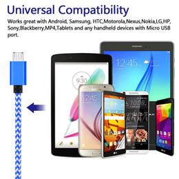 Câble de chargeur Android, câbles USB micro en nylon tressés sans enchevêtrement plat de câble 3ft / 1m données de synchronisation de chargeur câble de charge rapide pour Samsung ? partir de fabricateur