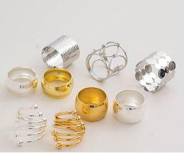 Anelli di tovagliolo cinese online-Stile cinese npkin anello in acciaio inox portatovagliolo campione stanza tovagliolo fibbia cerchio cerchio moderno moderno napk occidentale