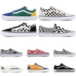 basketball shoes mix Coupons - Designer Original old skool MIx Checker OTW REPEAT FEAR OF GOD CHECKERBOARD canvas mens sport sneakers fashion Athleticl shoes size 36-44