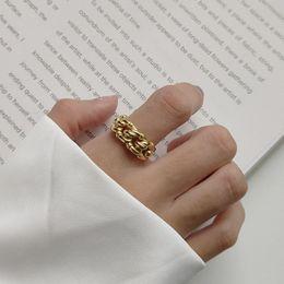 2019 anel de nó de prata esterlina 925 Sterling Silver 18K Tamanho Ouro Amarelo gratuito Abrir torcida Knot presentes do desenhista de moda Valentine Love Womens Vintage Marca Anéis desconto anel de nó de prata esterlina