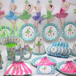 Decoracion Baby Shower Nina De Princesa.Ballet Girl Birthday Party Decorations Ballet Princess Theme Sets De Vajilla Desechables Baby Shower Supplies Kids Favor