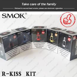 Batteries rs en Ligne-Kit Smok R-Kiss 200W d'origine à 100% avec réservoir TFV-Mini V2 S1 à maille simple alimenté par une batterie double Mod PK Kits E-Cigarettes Pico Swag