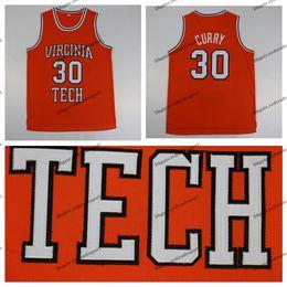 2019 карри баскетбольная рубашка Мужская Винтаж Dell Curry 30 Virginia Tech Hokies Колледжи Баскетбол Дешевые Оранжевый Dell Карри сшитые рубашки S-XXL дешево карри баскетбольная рубашка