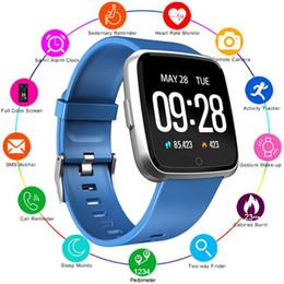 relógios inteligentes i5 Desconto 1PCS Y7 inteligente Pulseira Academia Mi banda 4 Oxygen Pressão Arterial Esporte Rastreador relógio inteligente Heart Rate Monitor pulseira para Homens Mulheres iphone