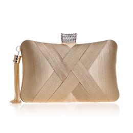Sexy schultertaschen online-Luxus klassische Abend Clutch Bag mit Quaste voller Diamanten Handtasche beliebtesten Kette Umhängetasche Sexy Party Queen Abendtasche