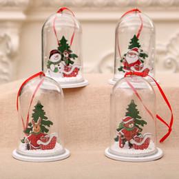 2019 Noel kolye Süsleme Şeffaf Ahşap Reçine Şeffaf Plastik Craft Topu Yılbaşı Ağacı Dekorasyon Parti Malzemeleri nereden elmas ışıltılı tırnak gazı tedarikçiler