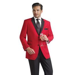 Nuevos padrinos de boda Blanco / Rojo / Azul marino / Gris Trajes de hombre Boda Best Man Wedding Tuxedos (Chaqueta + Pantalones + Corbata) v2 desde fabricantes