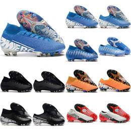 Sapatos de futebol de vapores on-line-Superfly 7 elite fg mens chuteiras de futebol cr7 chuteiras Neymar juventude futebol botas vapores 13 elite fg